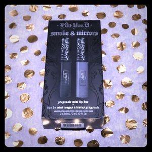 Kat Von D smoke & mirrors mini lip duo set NWT